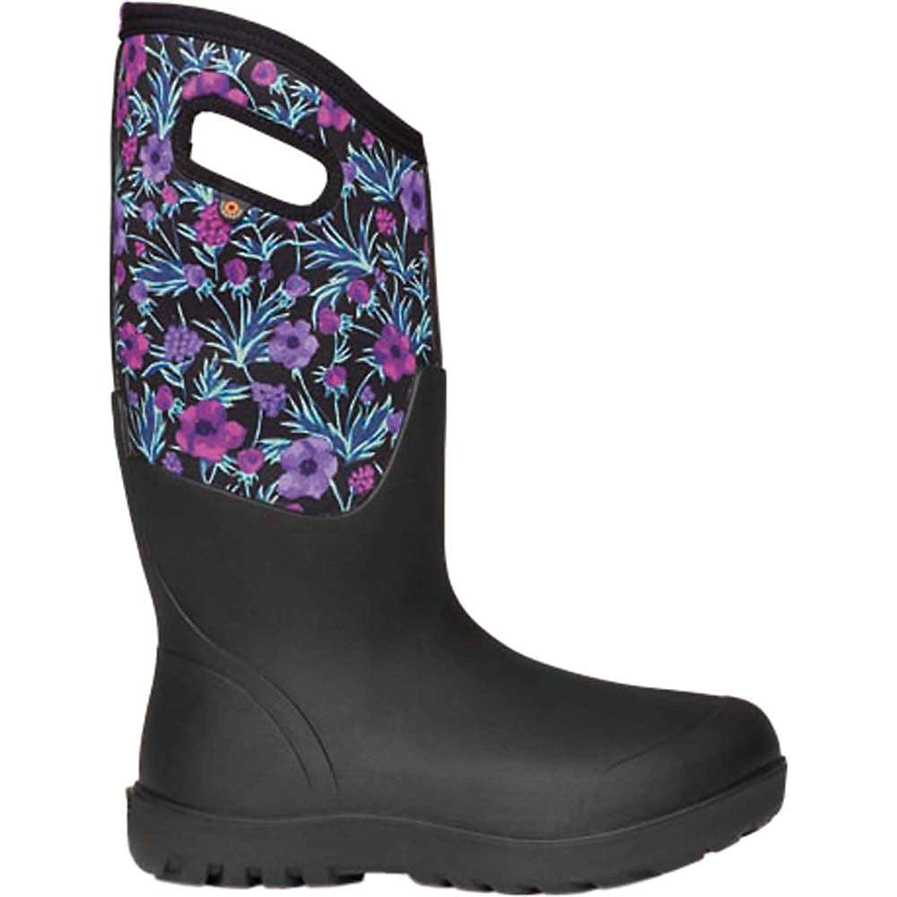 Coupons Bogs Womens Neo Classic Tall Vine Floral Boot - 7 - Black Multi