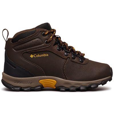 Columbia Youth Newton Ridge Boot - Cordovan / Golden Yellow