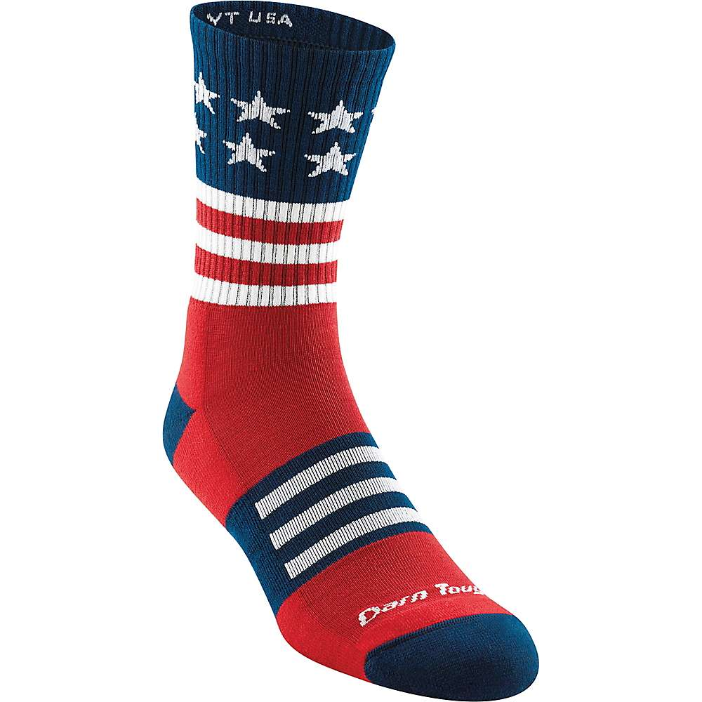 Darn Tough Men's Captain Stripe Micro Crew Light Cushion Sock - XL - Stars and Stripes