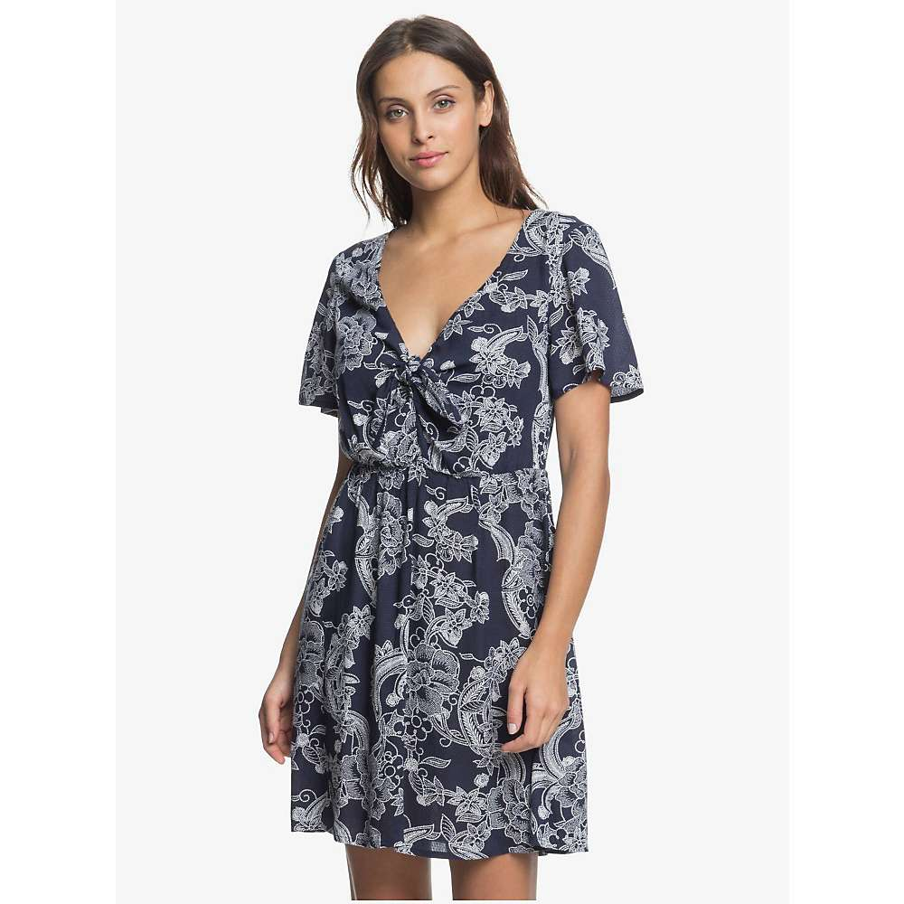 Cheap Roxy Womens Summer On Top Dress - Medium - Mood Indigo Light Fairy