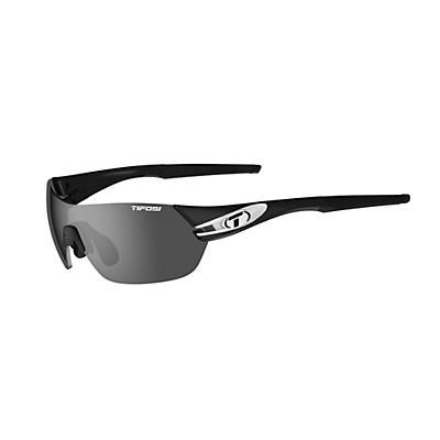 Tifosi Slice Interchangeable Sunglasses - Black / White/Smoke / AC Red / Clear