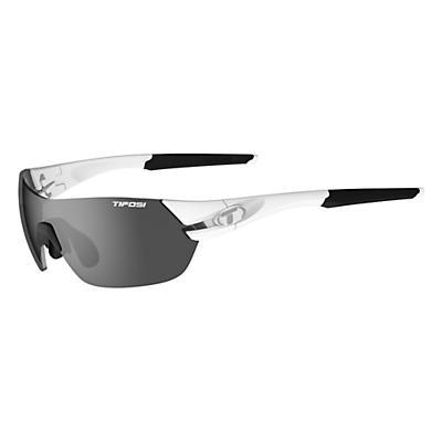 Tifosi Slice Interchangeable Sunglasses - Matte White/Smoke / AC Red / Clear