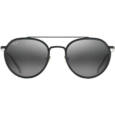 Maui Jim Bowline Polarized Sunglasses - Black Gloss with Black Matte Insert / Neutral Gray