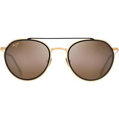 Maui Jim Bowline Polarized Sunglasses - Gold Matte with Black Gloss Insert / HCL Bronze