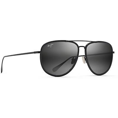 Maui Jim Fair Winds Polarized Sunglasses - Black Gloss with Black Matte Insert / Neutral Gray