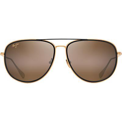 Maui Jim Fair Winds Polarized Sunglasses - Gold Matte with Black Gloss Insert / HCL Bronze