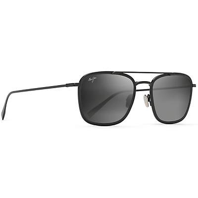 Maui Jim Following Seas Polarized Sunglasses - Black Gloss with Black Matte Insert / Neutral Gray