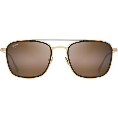 Maui Jim Following Seas Polarized Sunglasses - Gold Matte with Black Gloss Insert / HCL Bronze