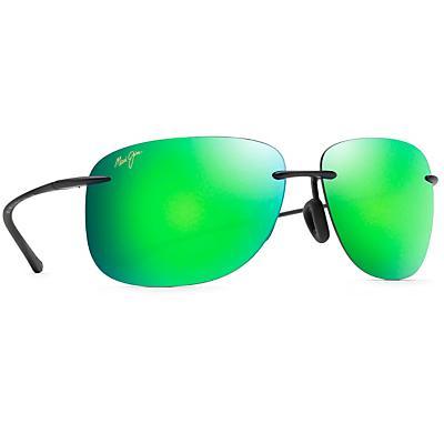 Maui Jim Hikina Polarized Sunglasses - Matte Black / Maui Green