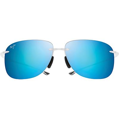 Maui Jim Hikina Polarized Sunglasses - Matte Crystal / Blue Hawaii