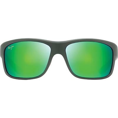 Maui Jim Southern Cross Polarized Sunglasses - Soft Matte Khaki / Brown / Black / Maui Green