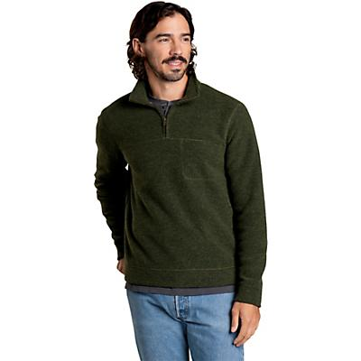 Toad & Co Breithorn 1/4 Zip Sweater - Olive - Men