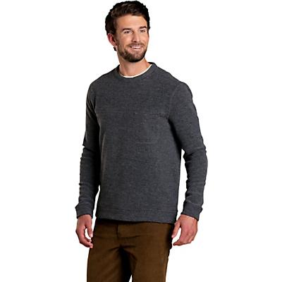 Toad & Co Breithorn Crew Sweater - Charcoal Heather - Men