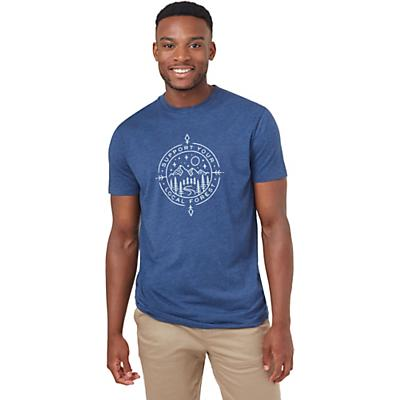 Tentree Support Classic T-Shirt - Dark Ocean Blue Heather - Men