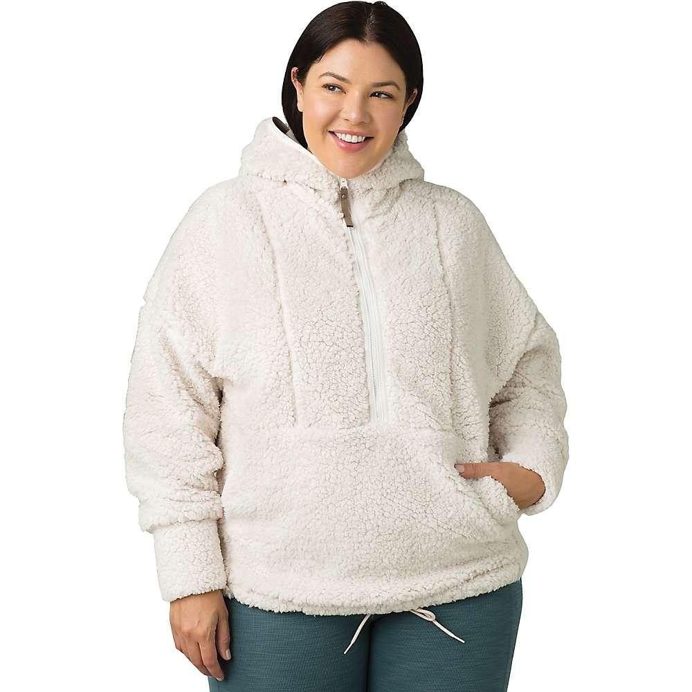 Discounts Prana Womens Polar Escape Half Zip Sweater - Plus - 1X - Dream Dust