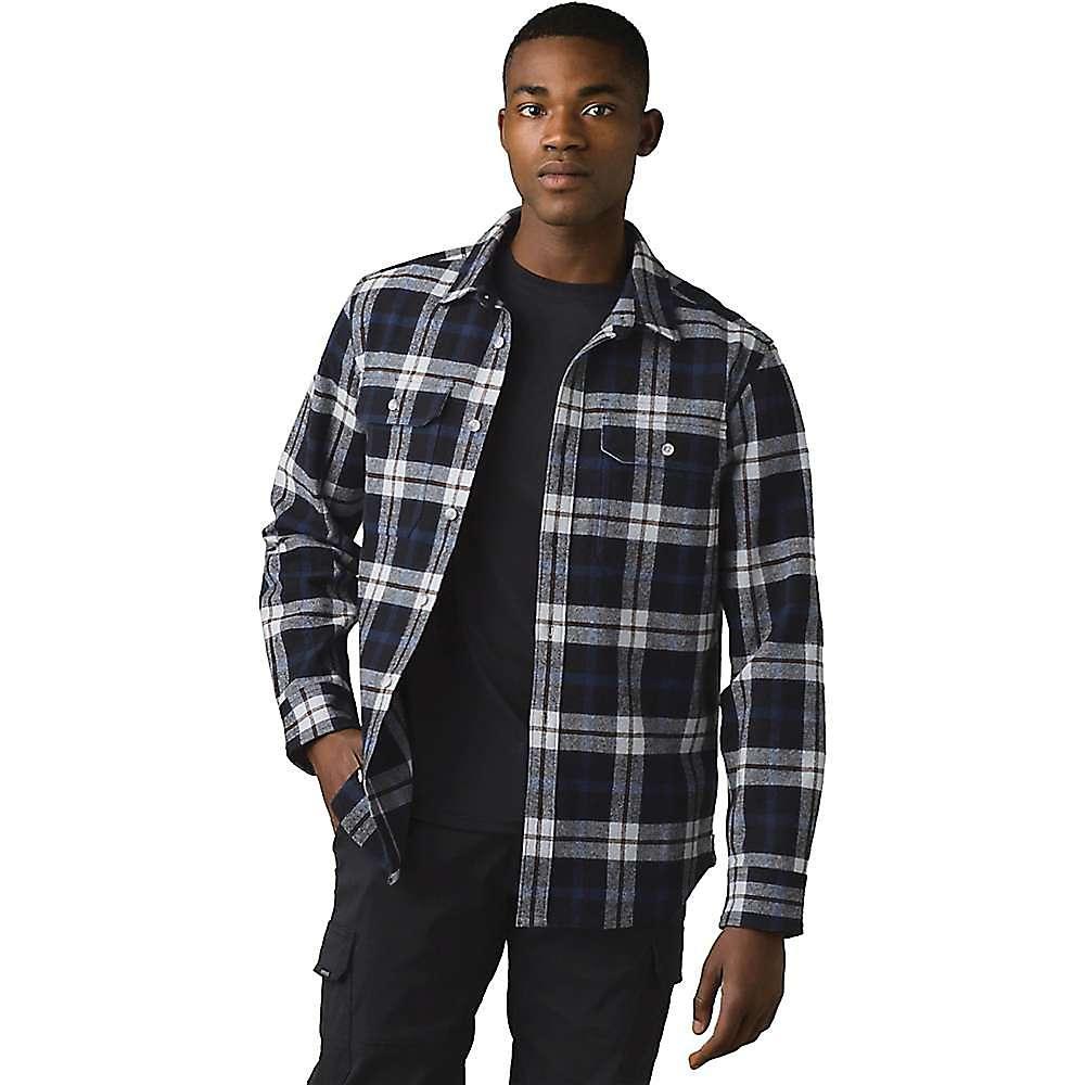 Compare Prana Mens Wedgemont Flannel Shirt-Slim - Medium - Black