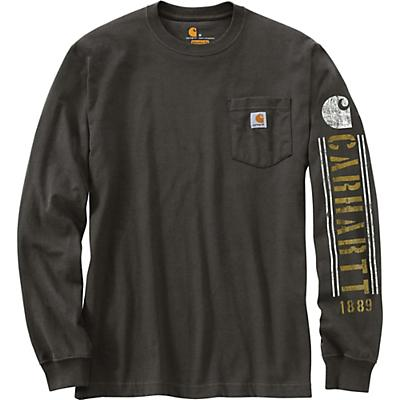 Carhartt Original Fit Heavyweight LS Pocket Logo Graphic T-Shirt - Peat - Men