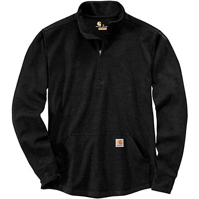 Carhartt Relaxed Fit Heavyweight LS Half Zip Thermal T-Shirt - Black - Men