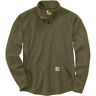 Carhartt Relaxed Fit Heavyweight LS Half Zip Thermal T-Shirt - Winter Moss - Men