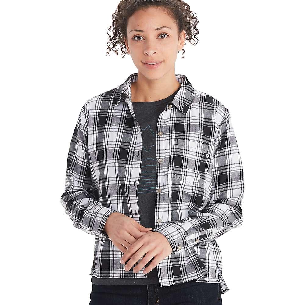 Promos Marmot Womens Barrie Lightweight LS Flannel SHIRT - Medium - Black