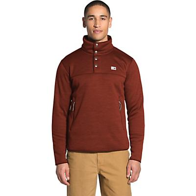 The North Face Sherpa Patrol 1/4 Snap Pullover - Brandy Brown White Heather - Men