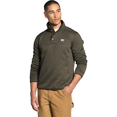 The North Face Sherpa Patrol 1/4 Snap Pullover - New Taupe Green White Heather - Men