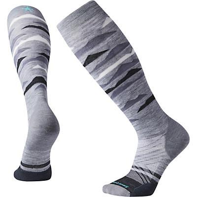Smartwool PhD Ski Light Elite Pattern Over The Calf Sock - Light Grey