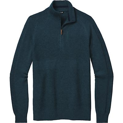Smartwool Ripple Ridge Half Zip Sweater - Deep Navy Heather / Prussian Blue Heather - Men