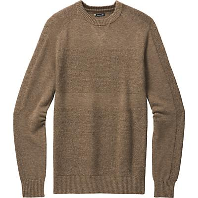 Smartwool Ripple Ridge Crew Sweater - Camel Heather / Military Olive Heather - Men