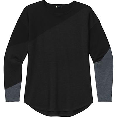 Smartwool Shadow Pine Colorblock Sweater - Charcoal Heather - Women
