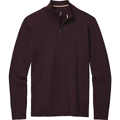 Smartwool Sparwood Half Zip Sweater - Woodsmoke Heather - Men