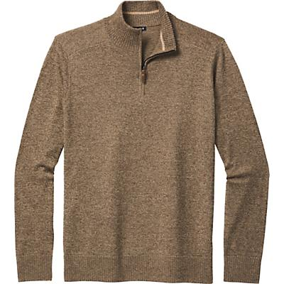 Smartwool Sparwood Half Zip Sweater - Camel Heather / Military Olive Heather - Men