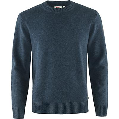 Fjallraven Ovik Round Neck Sweater - Navy - Men