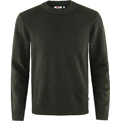 Fjallraven Ovik Round Neck Sweater - Dark Olive - Men