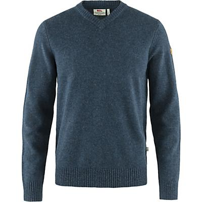 Fjallraven Ovik V Neck Sweater - Navy - Men