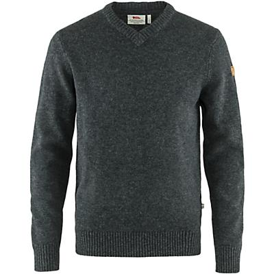 Fjallraven Ovik V Neck Sweater - Dark Grey - Men