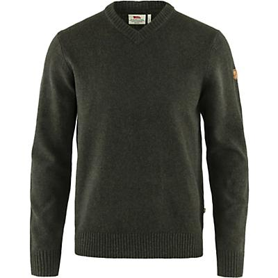Fjallraven Ovik V Neck Sweater - Dark Olive - Men