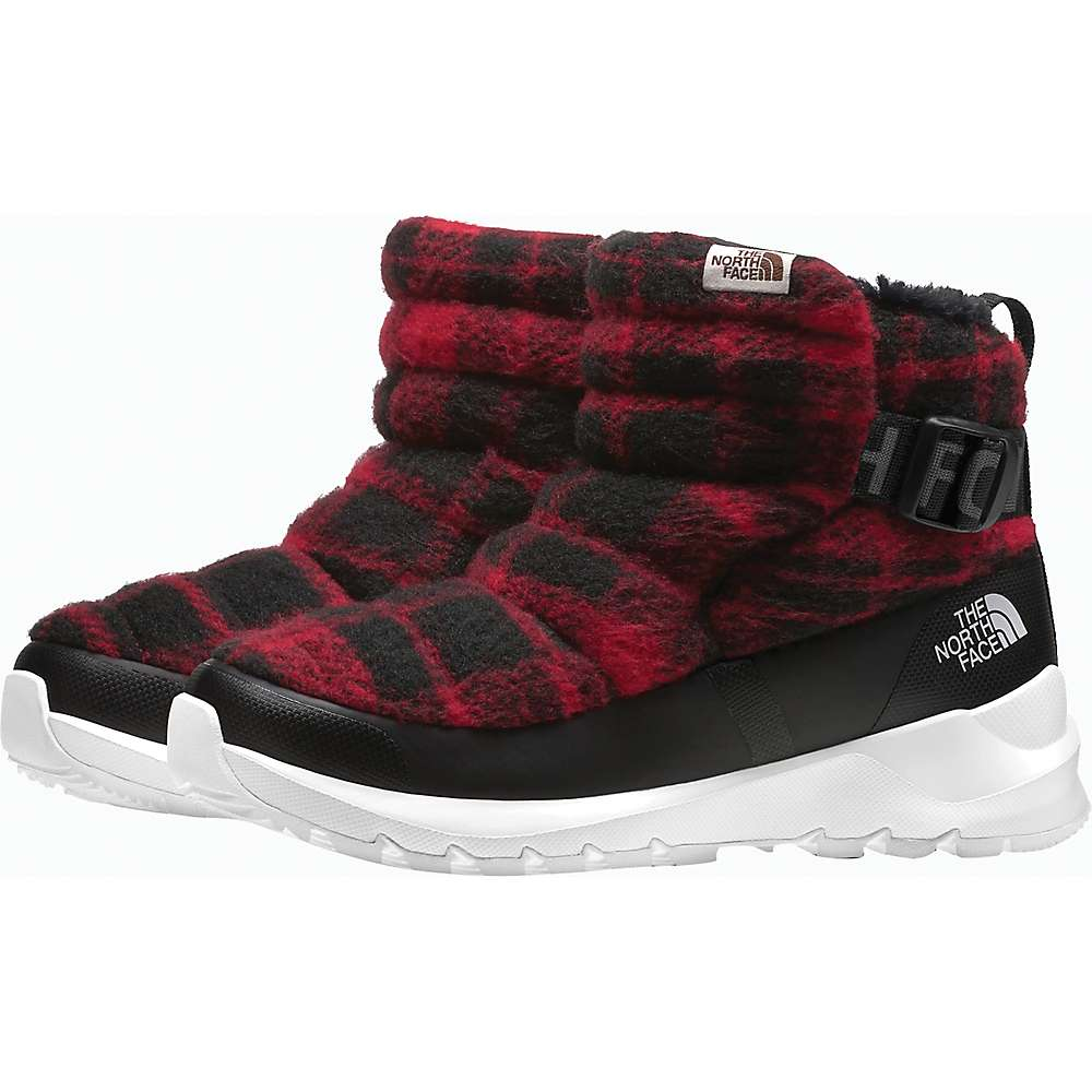 Cheap The North Face Womens ThermoBall Pull-On Wool Boot - 7 - TNF Black/TNF Red Plaid