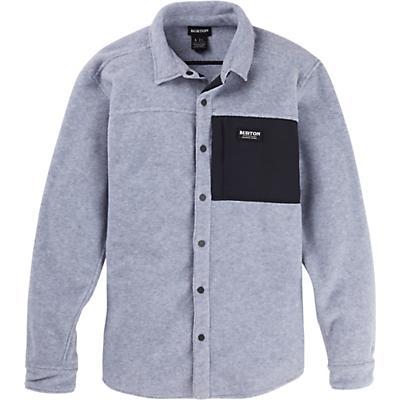 Burton Hearth Fleece Shirt - Grey Heather - Men