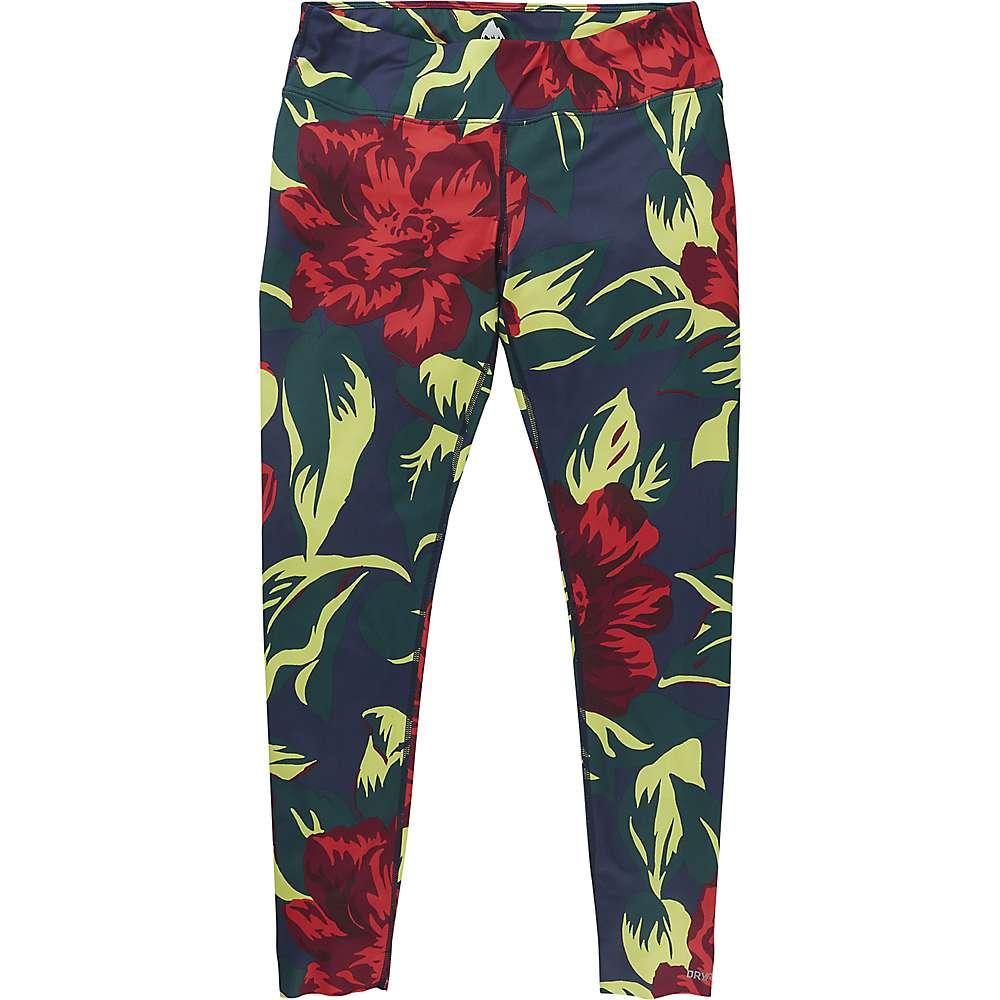 Burton Women's Midweight Base Layer Pant – Large – Hibiscus Pink Oversized Floral