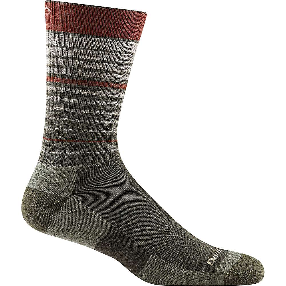 Darn Tough Men's Frequency Crew Cushioned Light Sock - Large - Forest