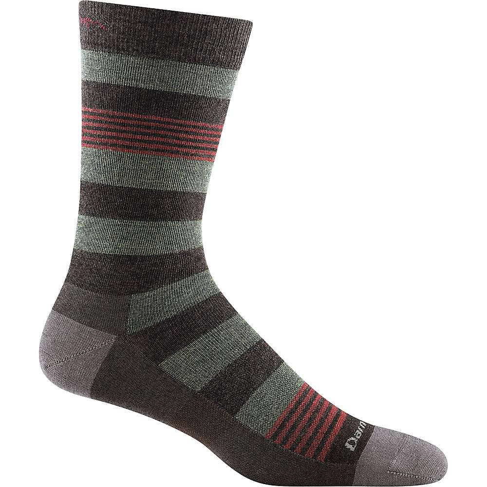 Darn Tough Men's Oxford Crew Light Sock - Large - Brown