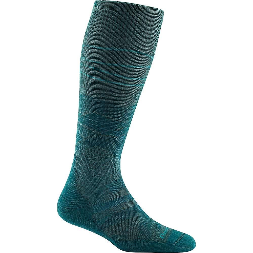 Darn Tough Women's Sea to Sky OTC Lightweight Cushioned Sock - Medium - Teal