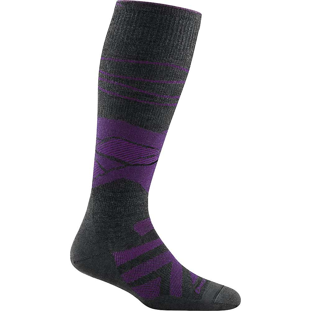 Darn Tough Women's Sea to Sky OTC Lightweight Cushioned Sock - Large - Charcoal