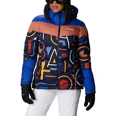 Columbia Abbott Peak Insulated Jacket - Dark Noctrnl Multi Typo Print / Lapis Blue - Women