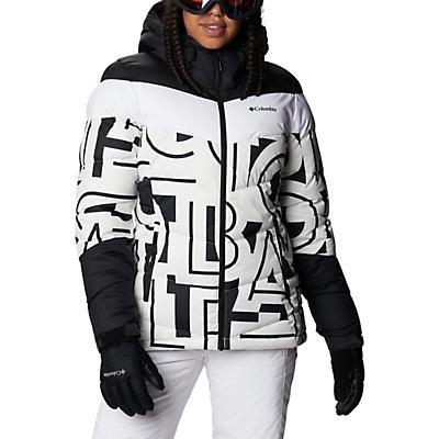 Columbia Abbott Peak Insulated Jacket - White Typo Print / Black - Women