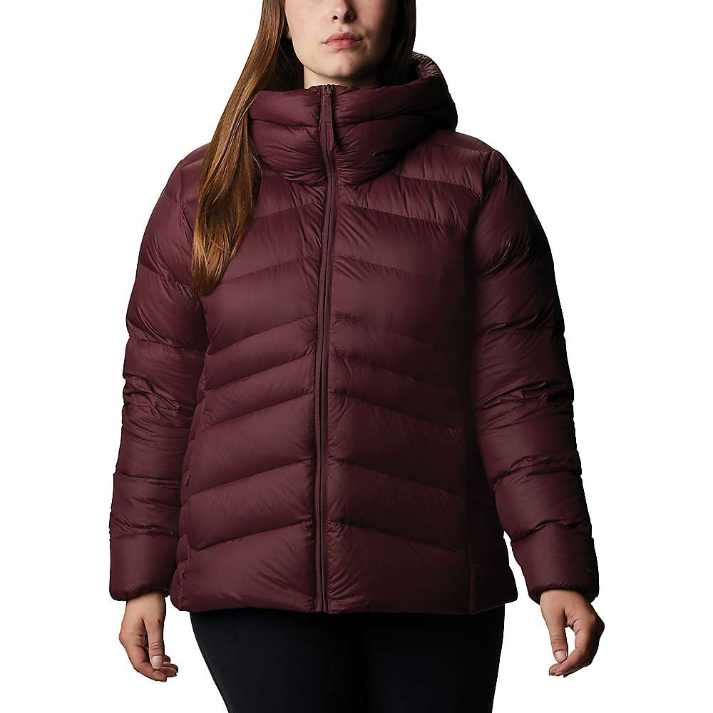 Compare Columbia Womens Autumn Park Down Hooded Jacket - XS - Malbec