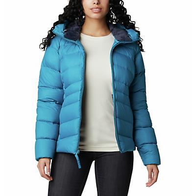 Columbia Autumn Park Down Hooded Jacket - Fjord Blue - Women