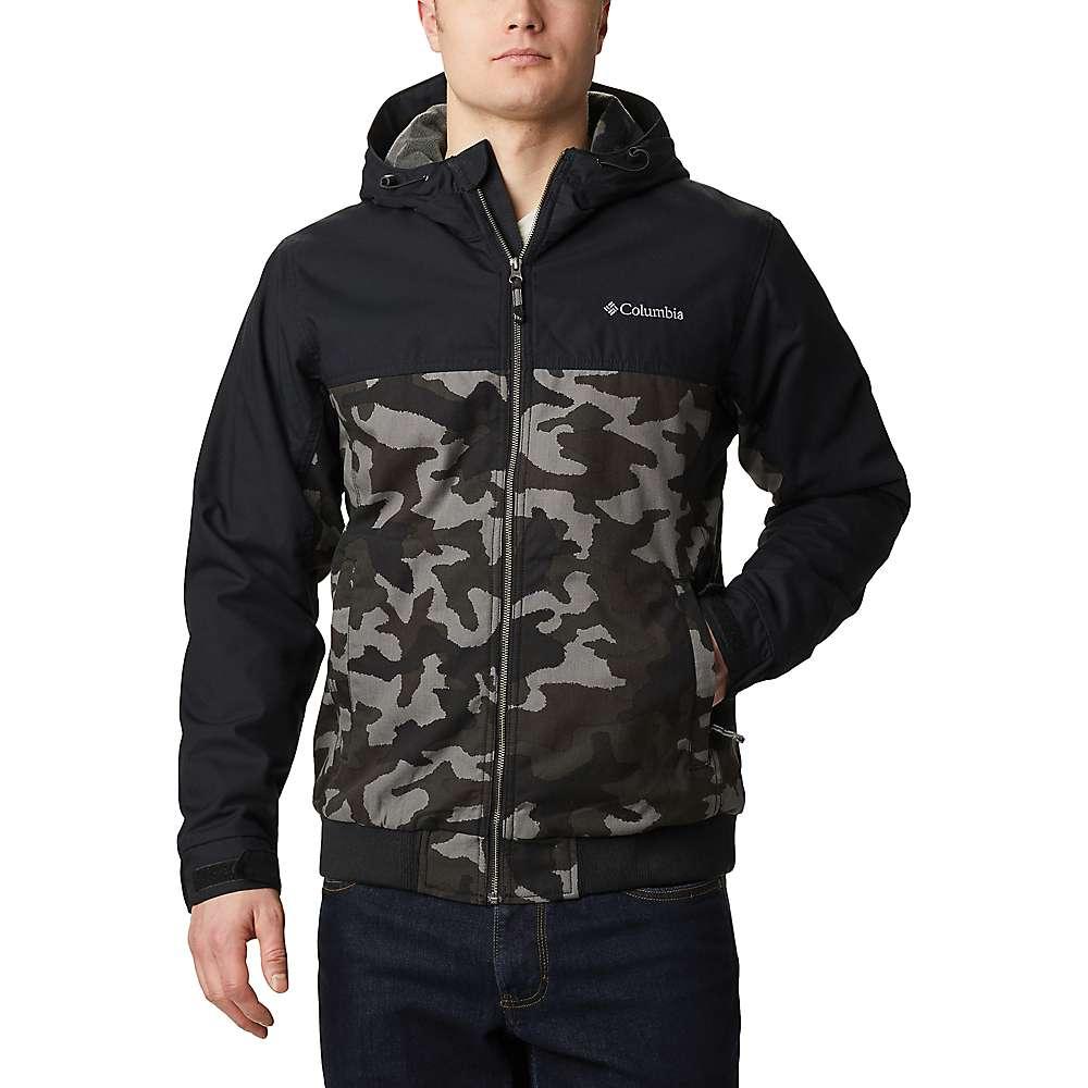Promos Columbia Mens Loma Vista Hooded Jacket - XXL - Black Traditional Camo / Black