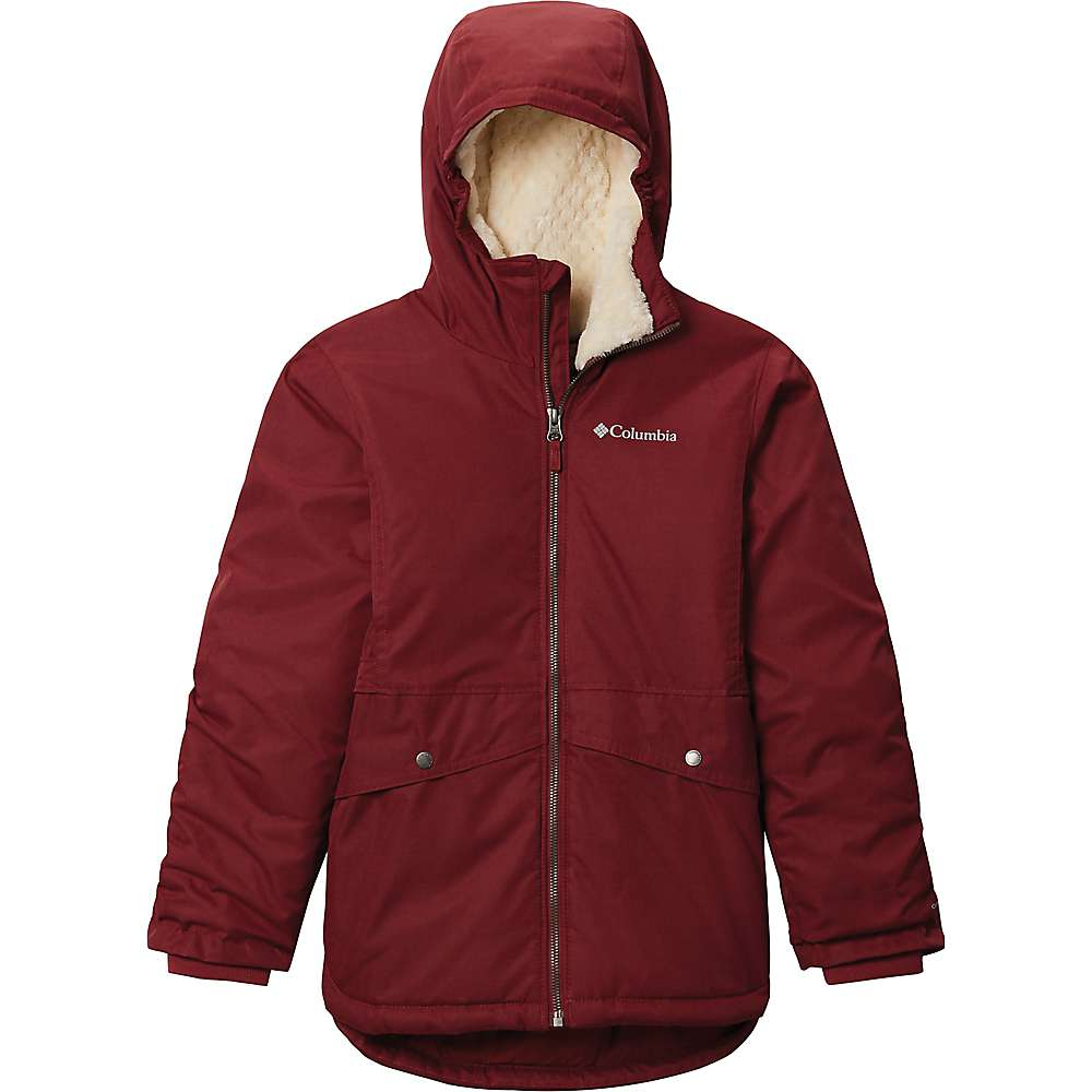 Cheap Columbia Girls Porteau Cove Mid Jacket - Small - Marsala Red Heather